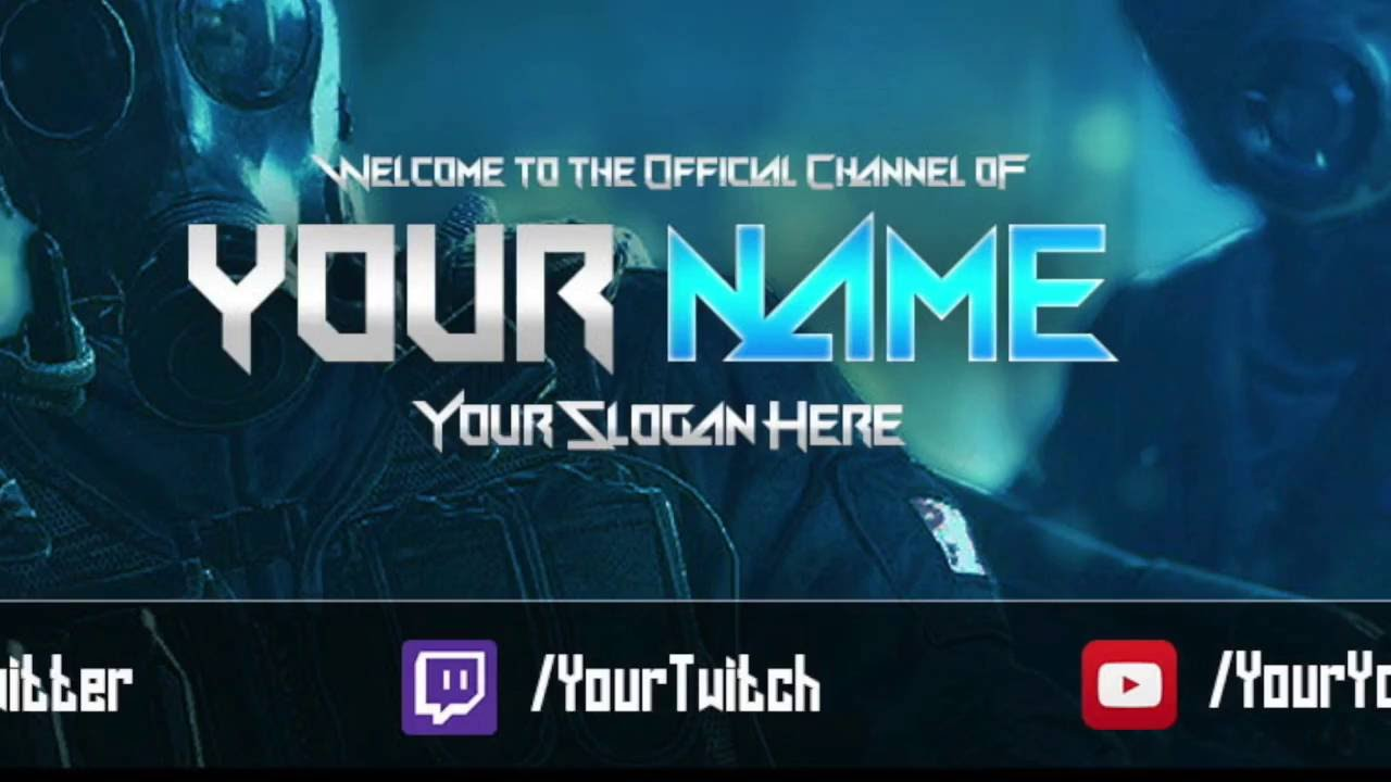 Rainbow Six Siege Youtube Banner Template Free Link