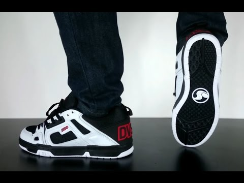 DVS COMANCHE black white red leather - YouTube 8cd5290fbd
