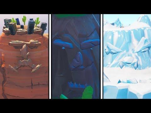 """""""visiter-un-visage-geant-dans-le-desert,-la-jungle-et-la-neige""""-defi-semaine-1-sur-fortnite-!"""