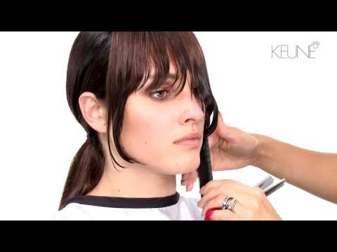Long Hair With Long Bangs Cut and Inked Brown Color Technique
