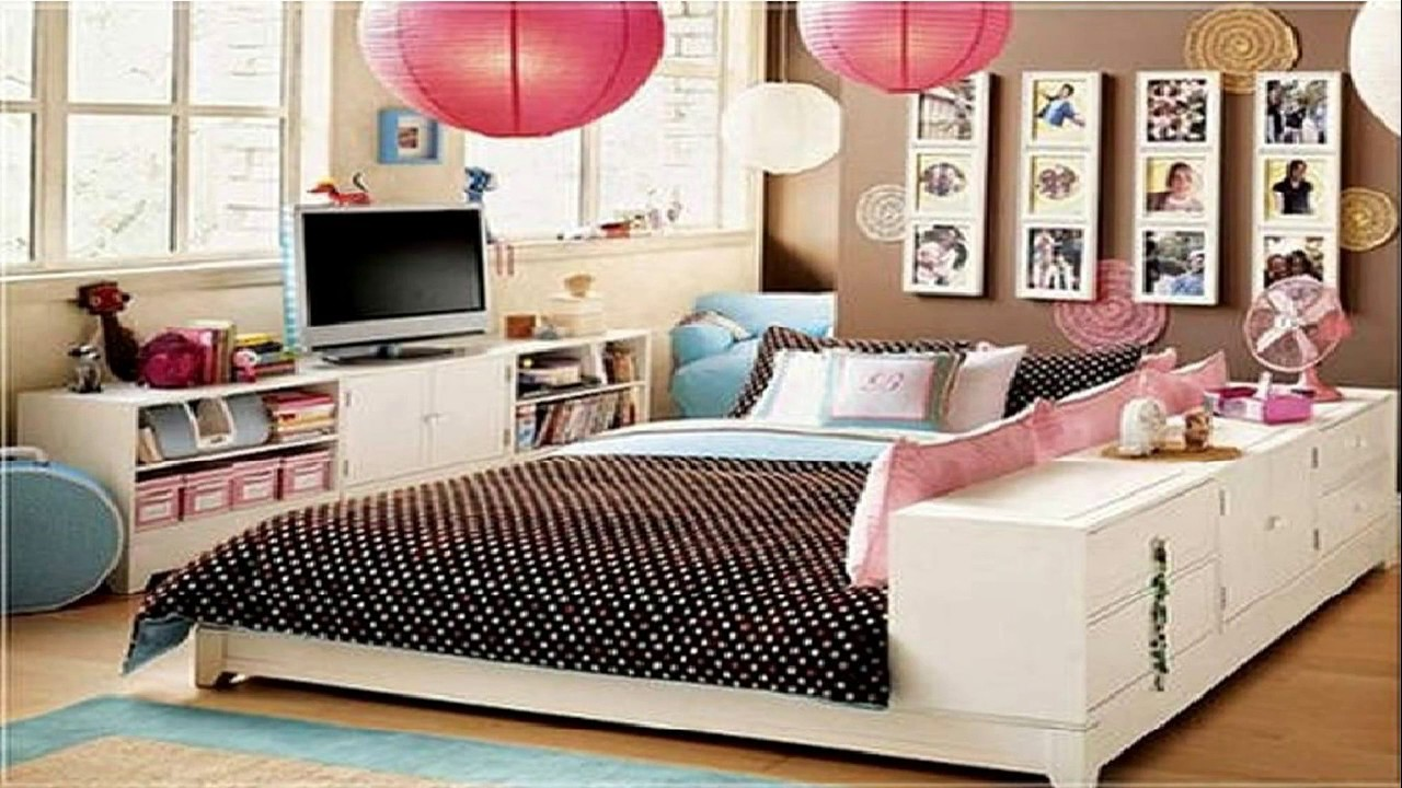 28 Cute Bedroom Ideas for Teenage Girls - Room Ideas - YouTube on Teenager Room Girl  id=21453