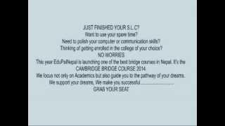 Bridge Course For Slc Candidates...