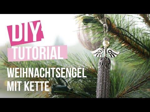 Schmuck machen: Weihnachtsengel mit Kette ♡ DIY