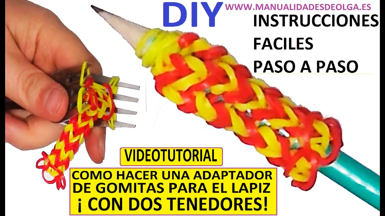 Como hacer un adaptador de gomitas para el lapiz con dos - Como hacer un estor enrollable paso a paso ...