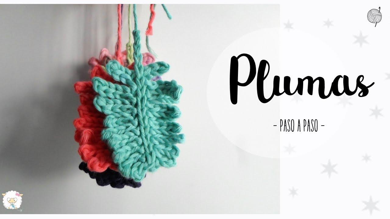 plumas a crochet muy fácil - YouTube