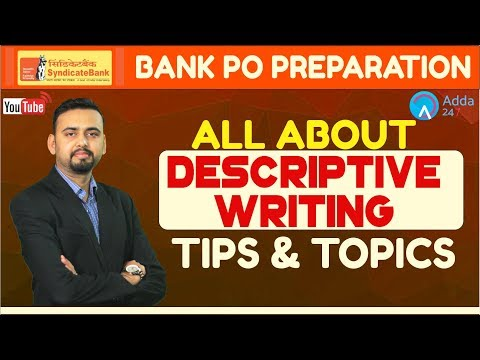 SYNDICATE BANK PO | All About Descriptive Writing By Saurabh Sir | English