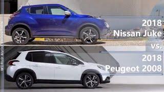 2018 Nissan Juke vs 2018 Peugeot 2008 (technical comparison)