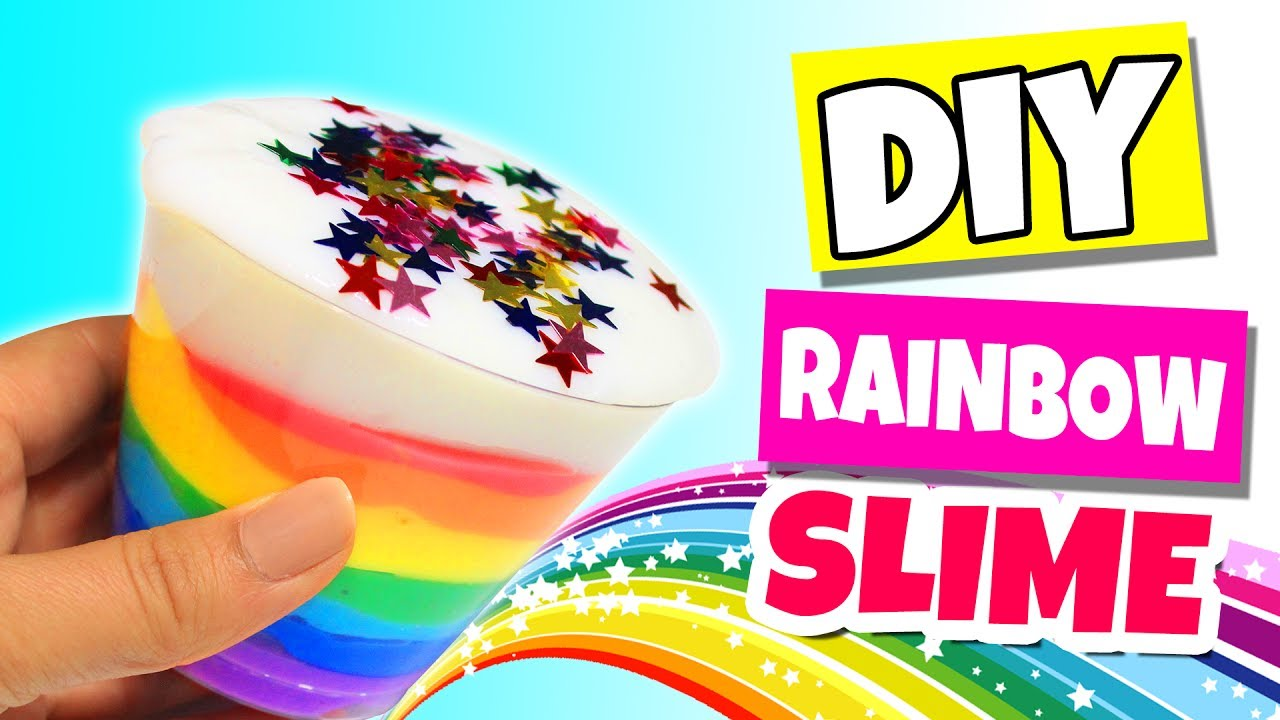Diy Rainbow Fluffy Slime  How To Make Your Own Rainbow Unicorn Frappe