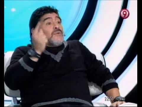 TVR - Diego Maradona sobre la comparación con Messi, Ronaldo y el gol a ingleses 21-07-12
