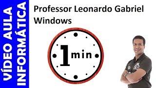 iNFORMTICA EM 1 MINUTO - WINDOWS 7 - AERO PEEK, AERO SNAP E AERO SHAKE