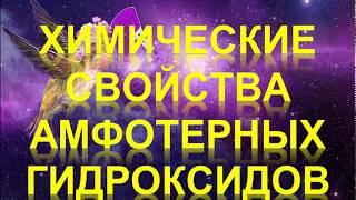 50. Химические свойства амфотерных гидроксидов