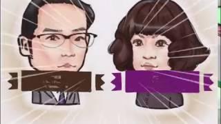 俳優の吹越満さんと広田レオナさん。 特徴 吹越さん 輪郭:頬骨とエラが...