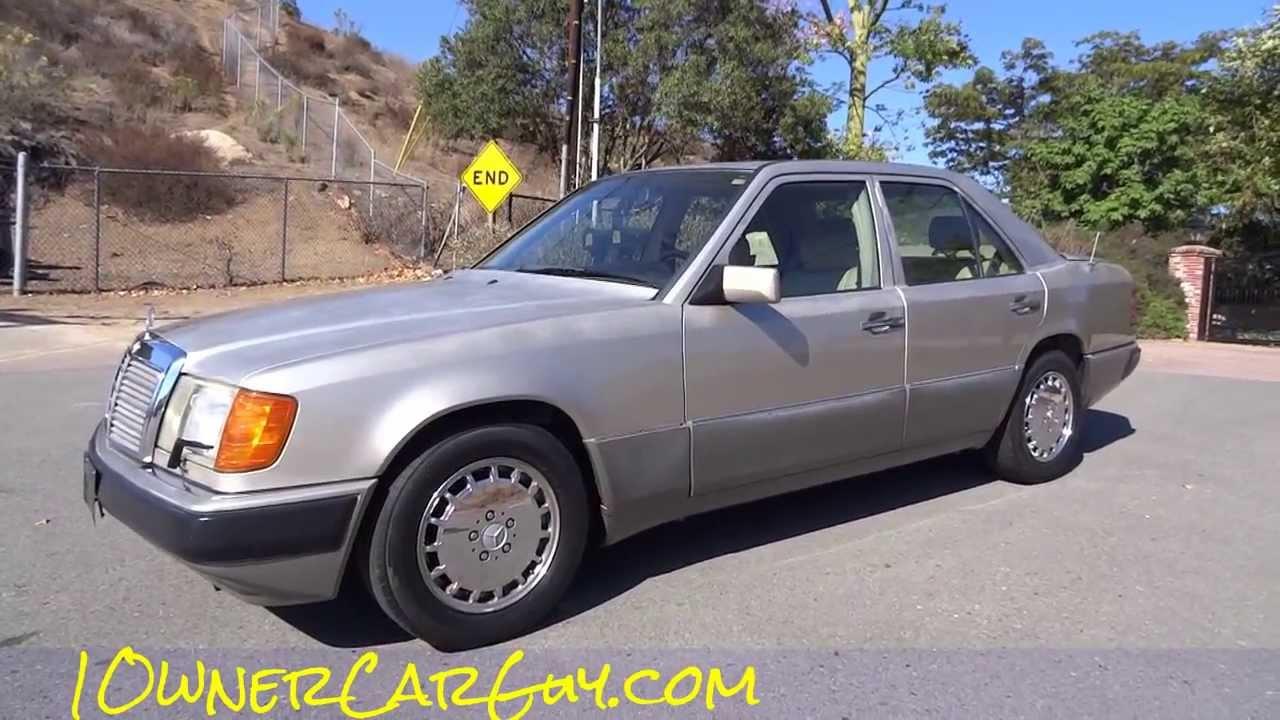 92 mercedes benz 300e w124 sedan 1 owner 3 0l 6cylinder for Mercedes benz w124 for sale