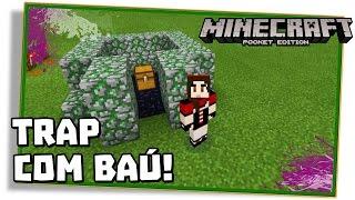 Minecraft PE 0.14.0: TRAP COM BAÚ DE ARMADILHA, TNT E EJETOR!  - (Pocket Edition / MCPE)