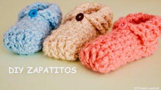Zapatitos de bebé tejidos a crochet paso a paso