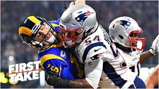Rams fans, lack of offense, Patriots fatigue to blame for Super Bowl ratings decline | First Take
