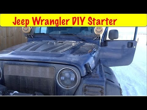 DIY Jeep Tj Wrangler Starter Replacement