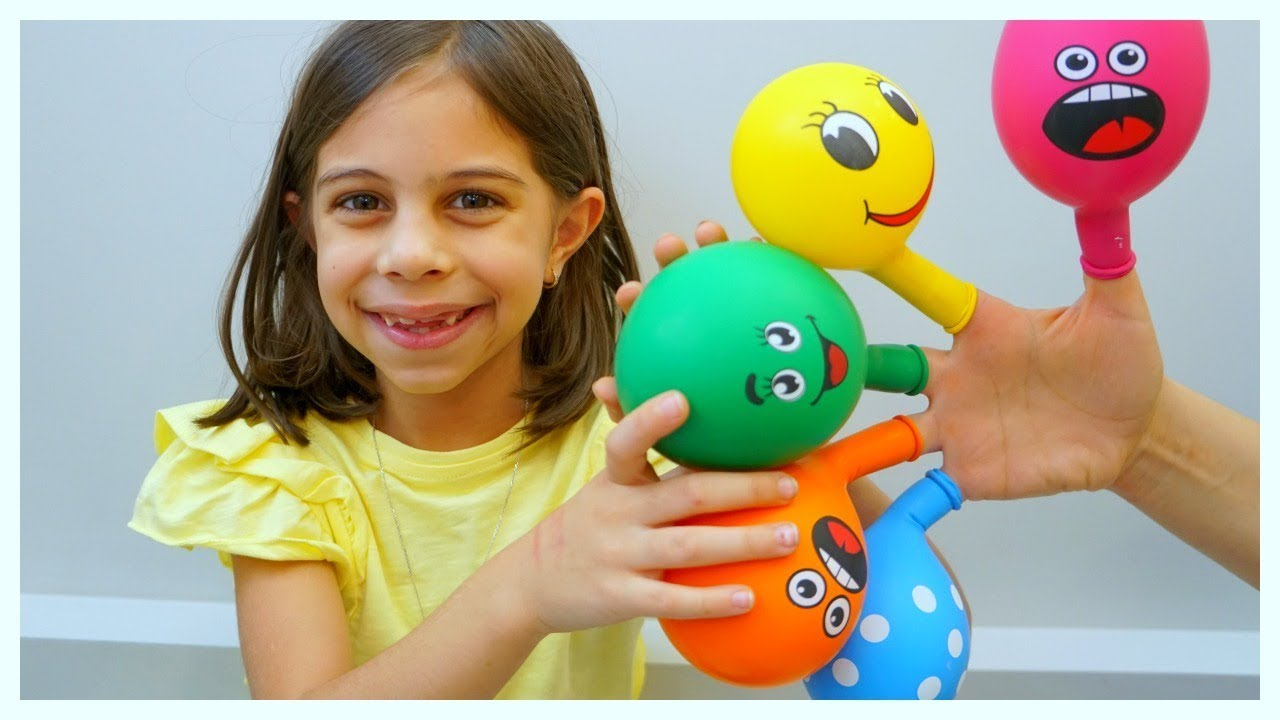 The Fingers Balloon Song - KLS Nursery Rhymes & Kid Songs