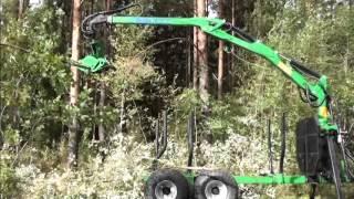 21-SV80/GL63 Żuraw do drewna + 21-TK18 Głowica ścinkowa