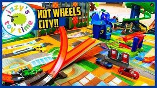 Cars for Kids! HOT WHEELS POP UP PLAYMAT CITY!