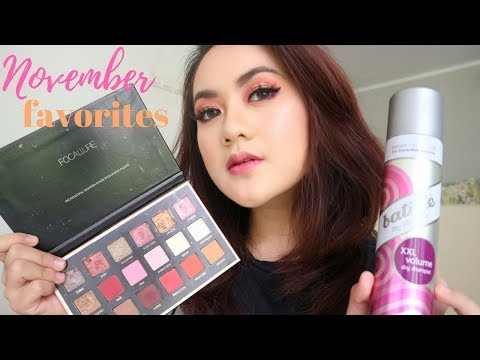 Monthly Favorites - November 2017   Focallure Eyeshadow, Sisir anti kusut, Batiste Dry Shampoo