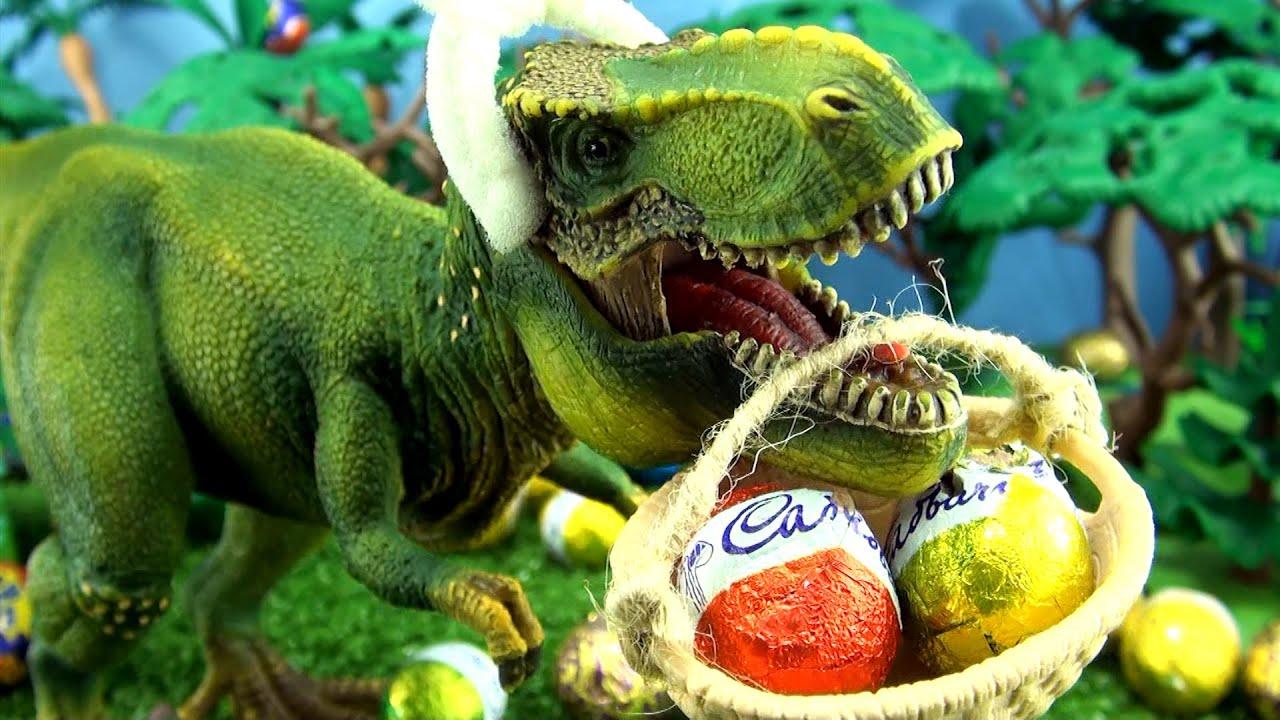 tyrannosaurus rex easter eggs song schleich