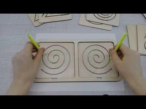 Линейки для рисования двумя руками, Smile-Decor П222