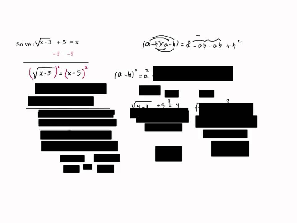 Solution to Problem 3, Intermediate Algebra SLO questions