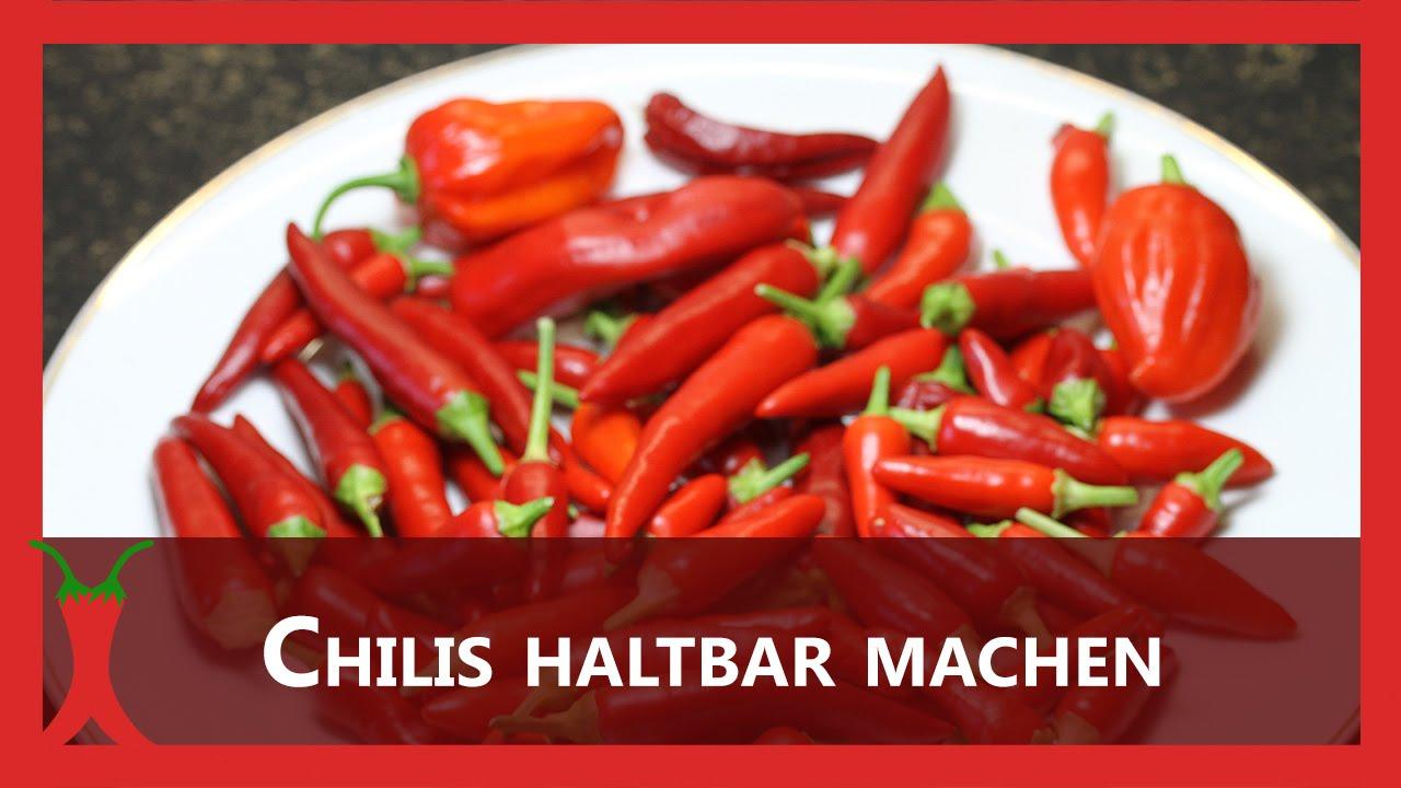 Etwas Neues genug Chilis haltbar machen (trocknen, einfrieren, Dörrautomat) - YouTube #GR_02