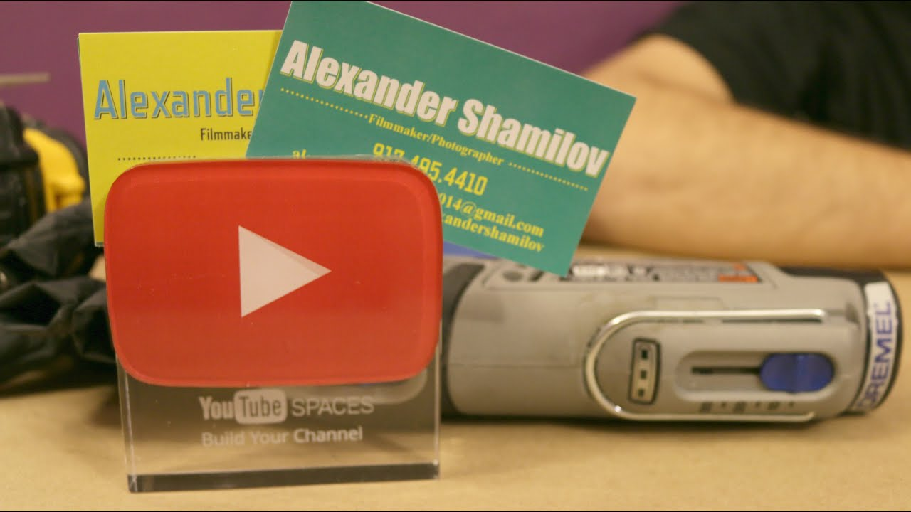 YouTube Award Business Card Holder - DIY - YouTube