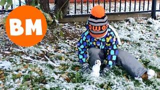 ВМ: В садик по первому снегу 2015 в Москве | First snow in Moscow 2015