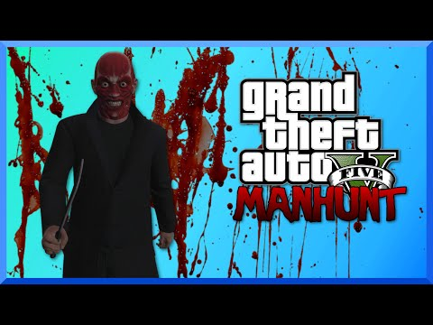 GTA 5 Manhunt Funny Moments - The Skinless Man, Suicide Deaths, and Surprise Attacks!