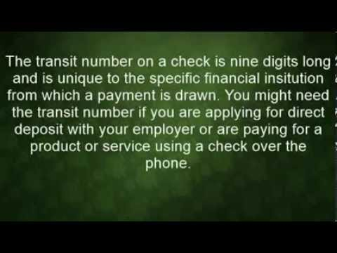 How To Find The Routing Transit Number On A Check