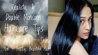 Monsoon Haircare Tips - Easy & Simple Tips To Get Silky, Shiny & Non - Frizzy Hair At Home