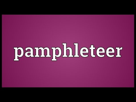 Pamphleteer Meaning