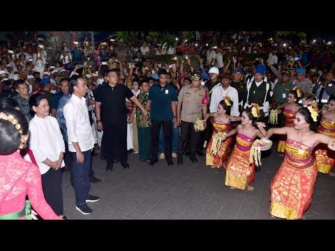 Presiden Jokowi Meresmikan Pasar Badung, Denpasar, 22 Maret 2019