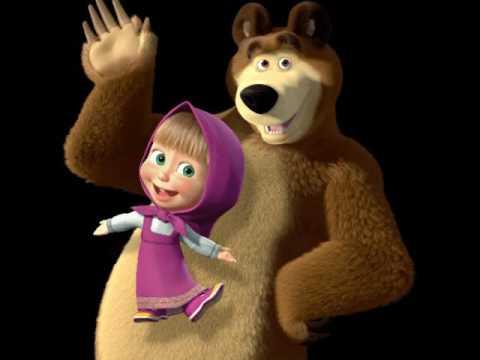 Masha and The Bear Picture of sand Маша и Медведь Картинка из песка