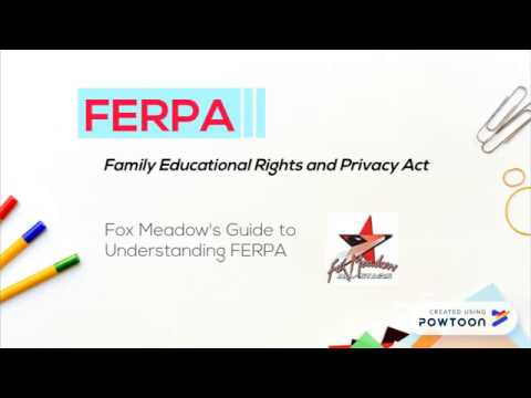 Understanding FERPA - Fox Meadow Middle School