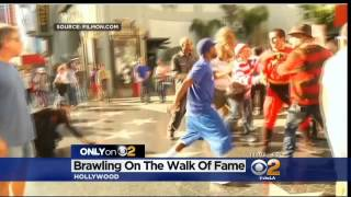 Costumed Characters Brawl On Walk Of Fame « CBS Los Angeles
