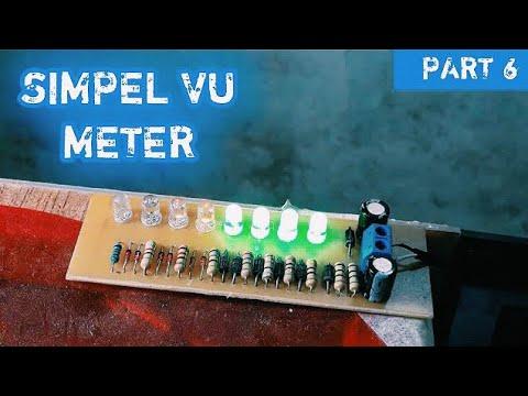 Cara Membuat Lampu Mengikuti Musik [VU METER] #Amplifier_6