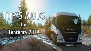 TOP 5 MODS - 2/2019 - Euro Truck Simulator 2 - 1.34.x