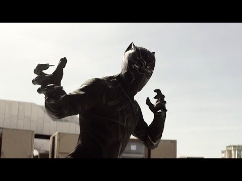 Зимний солдат (Баки) против Черной Пантеры. Первый Мститель: Противостояние (2016)