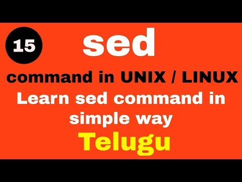 Sed Command In LINUX / UNIX With Examples | Telugu #LINUX #UNIX #sed Command