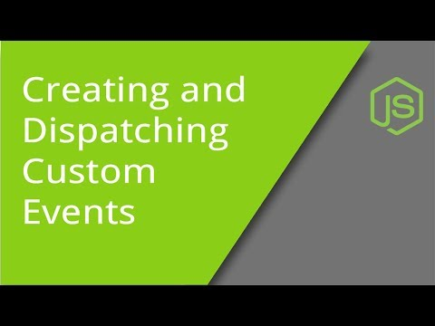 Creating And Dispatching Custom JS Events