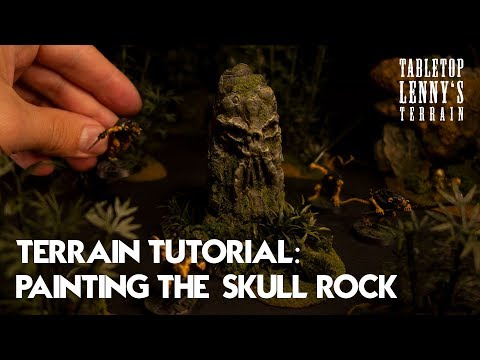 TERRAIN TUTORIAL: Painting The Skull Rock
