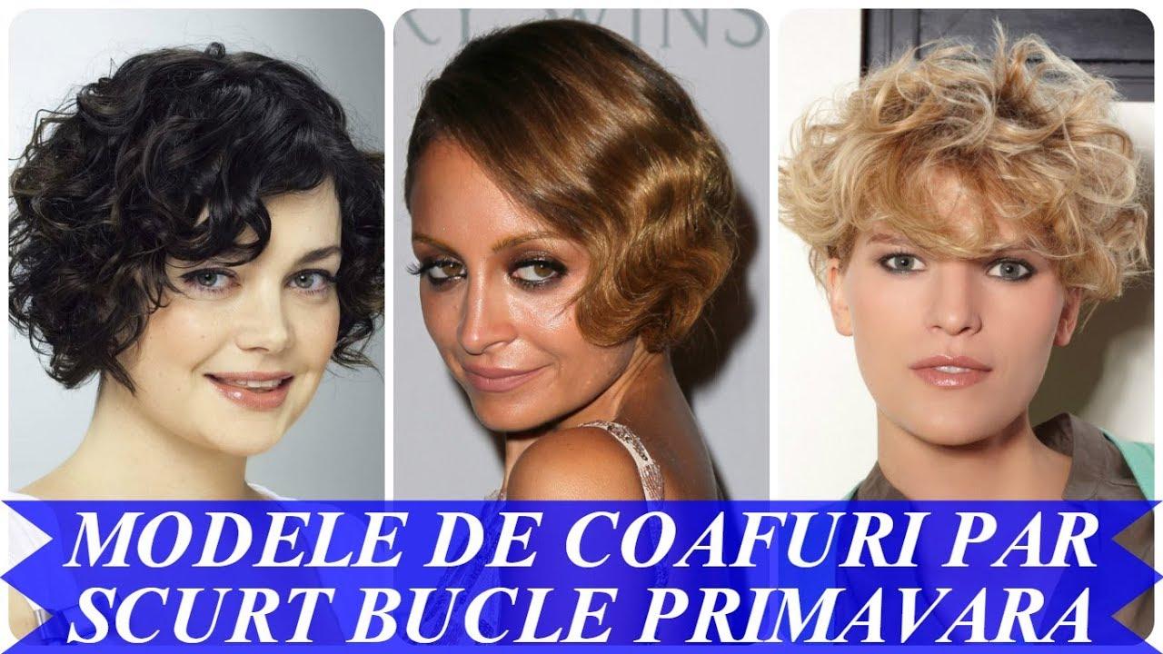 Modele De Coafuri Par Scurt Bucle Primavara 2018 Youtube
