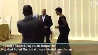 Zim First Lady Grace Mugabe dancing with South African President Zuma