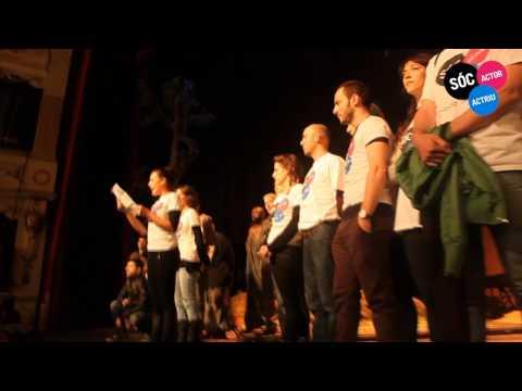Els actors valencians ocupen el Teatre Principal