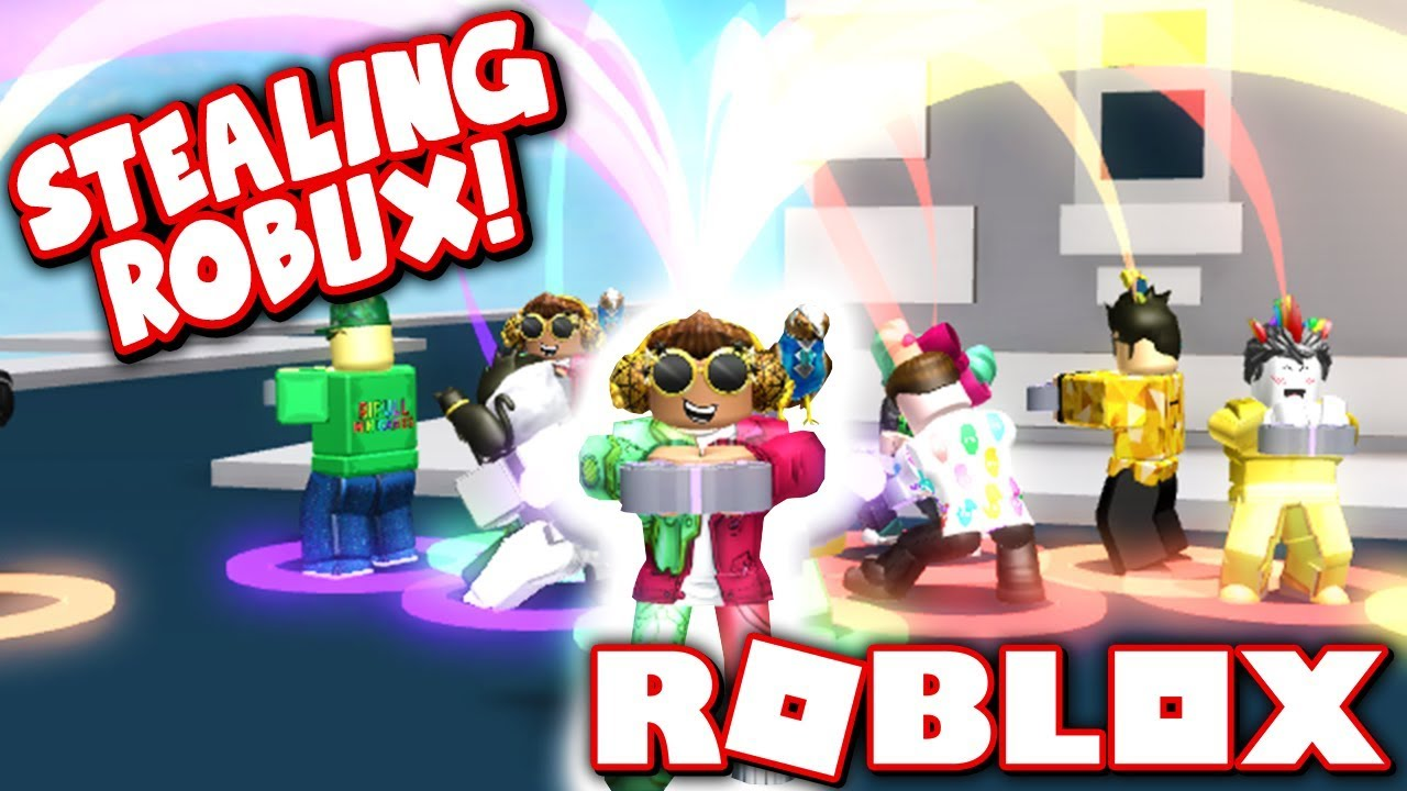 Stealing Robux From Other Players Roblox Cash Grab Simulator