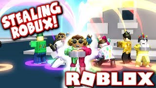 STEALING ROBUX FROM OTHER PLAYERS?! (Roblox Cash Grab Simulator)